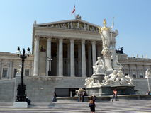 Construction autrichienne du Parlement Photographie stock