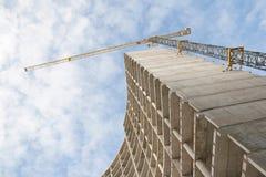 Construction avec la grue image libre de droits