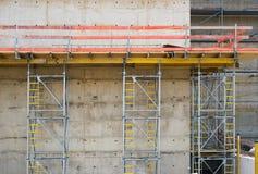 Construction avec le mur en béton image libre de droits