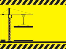 Construction background with crane silhouette Royalty Free Stock Images