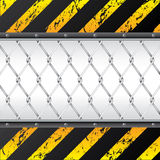 Construction background design with wired fence stock illustration