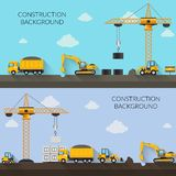 Construction Background Illustration Stock Photos