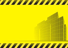 Construction background with skyscrapers Royalty Free Stock Photos