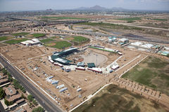 Construction of Ballpark Stock Images