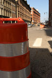 Construction Barrel Downtown Grand Rapids Royalty Free Stock Photo