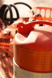 Construction Barrel Downtown Grand Rapids Stock Photo