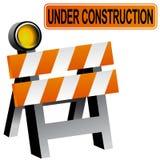 Construction Barricade. A 3D image of a construction barricade Stock Photos