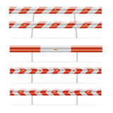 Construction barricades. Illustration of different construction barricades Royalty Free Stock Images