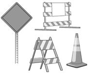Construction barricades Royalty Free Stock Photography