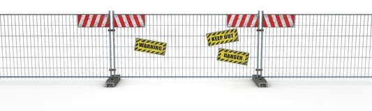 Construction Barrier Fence Stock Photography