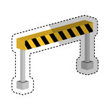 Construction barrier isometric icon Royalty Free Stock Image