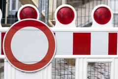 Construction Barrier Royalty Free Stock Images