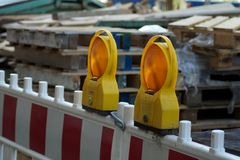 Construction barrier Royalty Free Stock Photo
