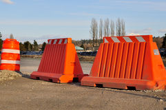 Construction Barrier Royalty Free Stock Photos
