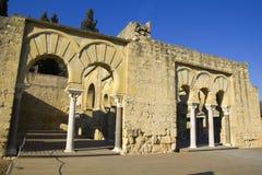 Construction Basilic supérieure. Medina Azahara. Image stock
