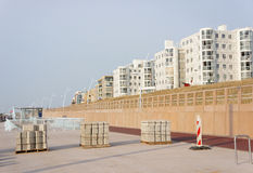 Construction by the beach Royalty Free Stock Photos