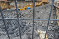 Construction behind fence Stock Photos
