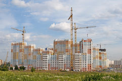 Construction of big residential building Stock Images