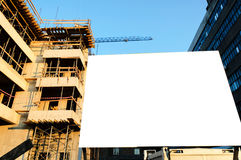 Construction billboard Stock Images