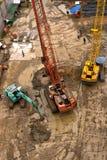 Construction bird eye view Stock Photo