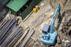 Construction in bird eye view Royalty Free Stock Image