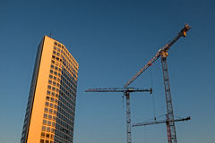 Construction in Birmingham Royalty Free Stock Photography