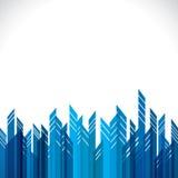 Construction bleue abstraite de ville illustration libre de droits