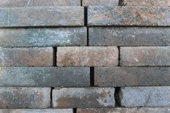 Construction Blocks Texture. Construction Block Texture with random sized cement blocks in brown and gray royalty free stock images