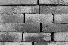 Construction Blocks Monochrome. Construction Block Texture with random sized cement blocks in monochrome royalty free stock photo