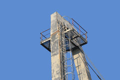 Construction on blue sky background . Metal construction on blue sky background Royalty Free Stock Photos