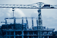 Construction blue toned Royalty Free Stock Photo