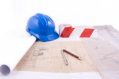 Construction Blueprint Stock Photo
