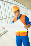 Construction blueprint Royalty Free Stock Photos