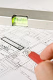 Construction blueprints Royalty Free Stock Photography