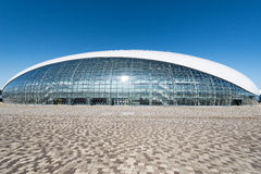 Construction of Bolshoy Ice Dome. Sochi, Russia - May 11, 2015: Construction of Bolshoy Ice Dome built for Winter Olympic Games 2014. It is a home arena for stock photo