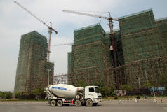 Construction Boom in China Royalty Free Stock Photos