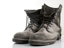 Construction boots Royalty Free Stock Photos