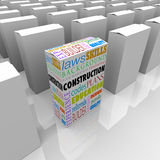 Construction Boxes Choose Best Builder Contractor Royalty Free Stock Photography