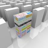 Construction Boxes Choose Best Builder Contractor stock illustration