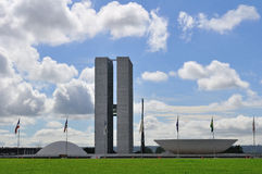 Construction brésilienne du congrès image stock