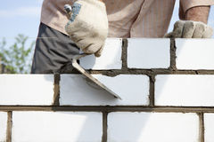 Construction of  brick Stock Photo