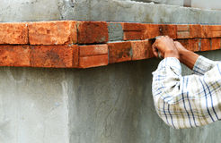 Construction brick wall Stock Images