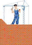 Construction bricklayer Stock Photo