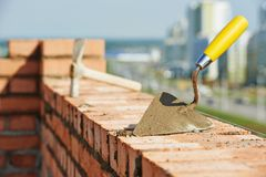 Construction bricklayer tools Stock Images