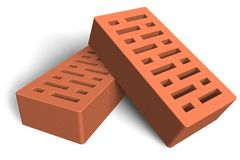 Construction bricks royalty free illustration