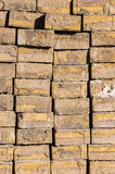 Construction bricks stack background Stock Image