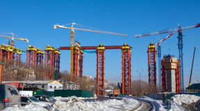 Construction of the bridge. Stock Photography