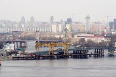 Construction bridge Royalty Free Stock Photo