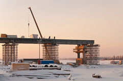 Construction bridge. Royalty Free Stock Photo
