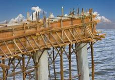 Construction of bridge beams. Stock Images